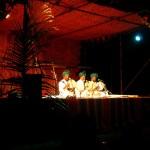 The Sufi singers Abdul Ghani, Ajah Maideen and Saburmaideen Babha Sabeer at Kabir Festival