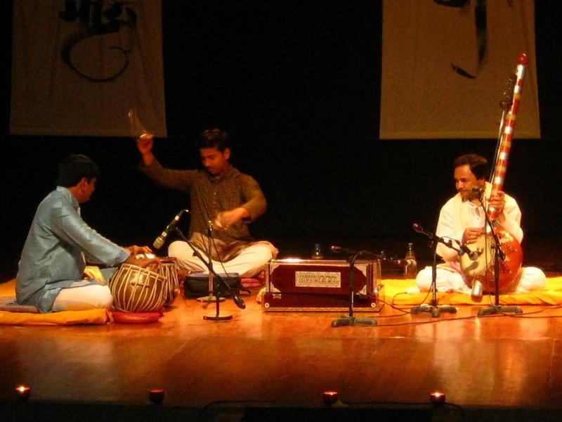 Photographer:Maria   Hemant Chauhan Trio at Kabir Sacred Music Festival