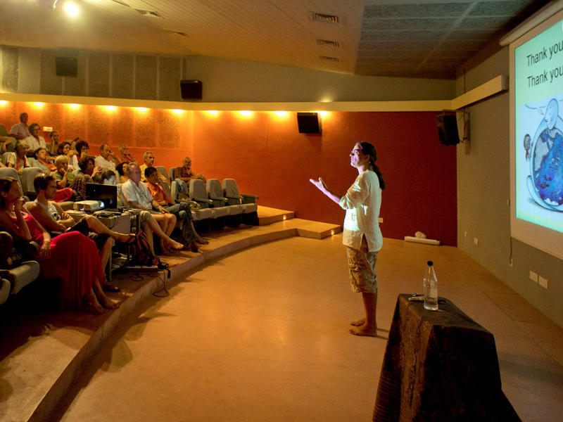 Photographer:Giorgio | Presentation of the conference Water for Auroville, an urgent issue!