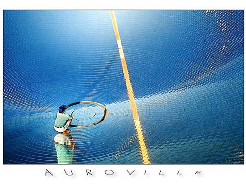 Photographer:www.auroville.com | Since 15 years the solar bowl at the Solar Kitchen provides free and clean energy