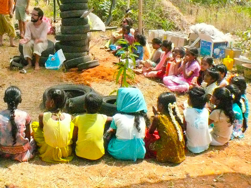 Photographer:Giorgio | Childrens from villages surrounding Auroville celebrates the Earth Day in Sadhana Forest