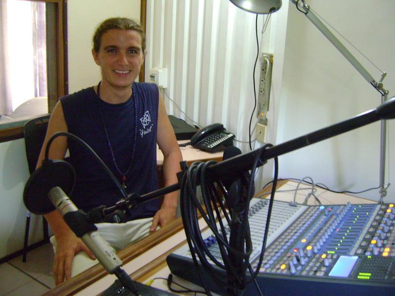 Photographer:Alix | Michaels on the studio of the radio