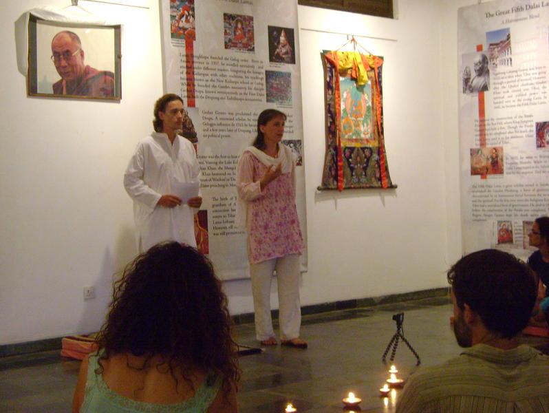 Photographer:Lua | Vera presenting Victor at Pavilion of Tibetan Culture in IZ