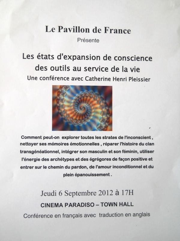 Photographer:Pavillon de France | The flyer of the conference