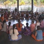 Another women's circle meeting in Auroville