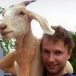 Comedian Jim and His goat Gary, from his website, Jimbo.com.au