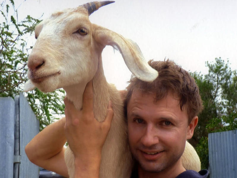 Photographer:Jimbo | Comedian Jim and His goat Gary, from his website, Jimbo.com.au