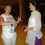 Jenna Grayson speaks with Auroville guest, Petra