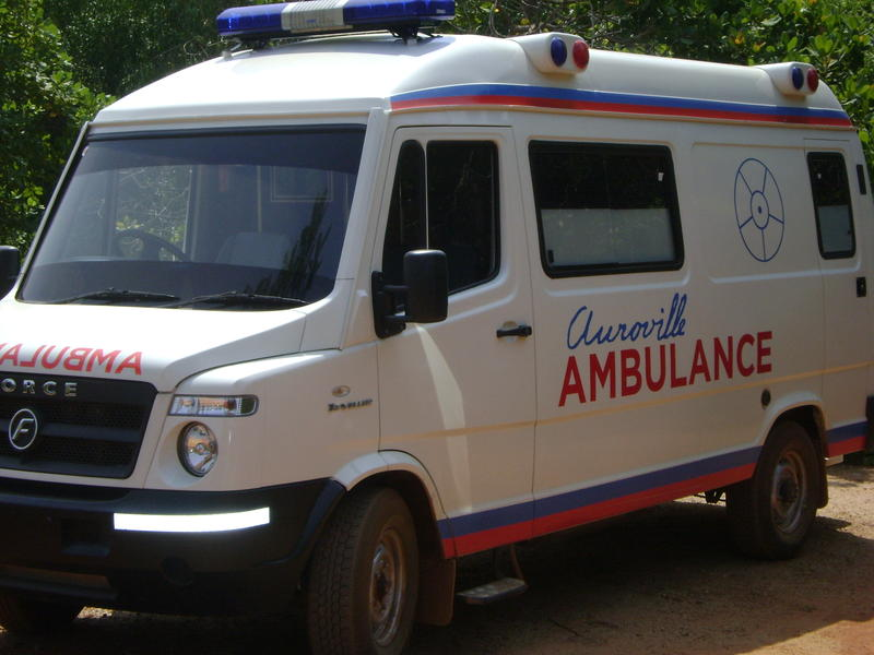 Photographer:Andi | Auroville Ambulance