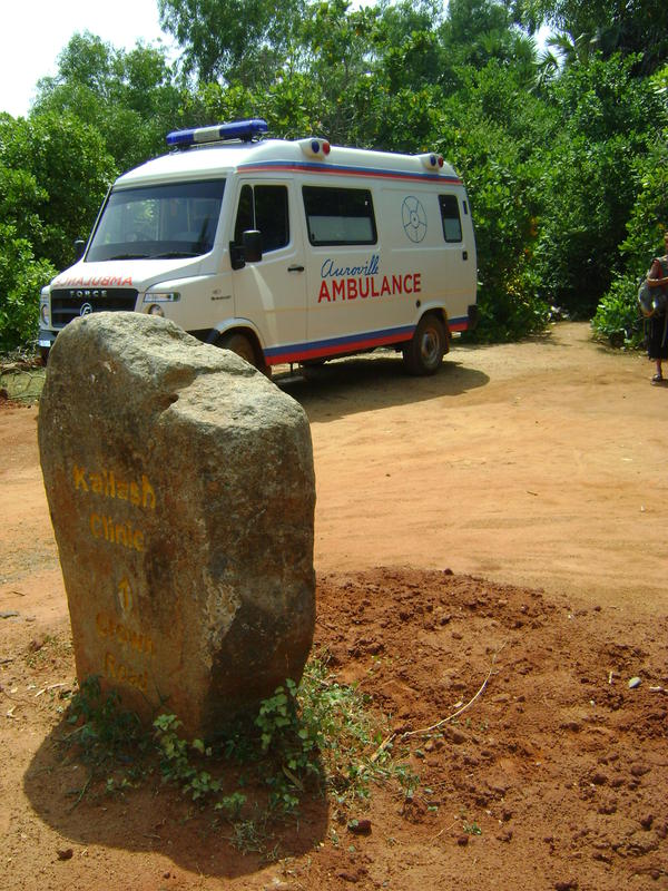 Photographer:Andi | New ambulance at Kailash Clinic