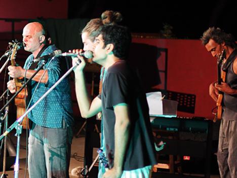 Photographer:Edorado G | From left: Krishna & Karthik. Miiskho on bass.