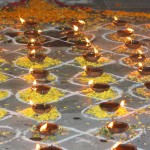 89-candeled Kolam for Krishna