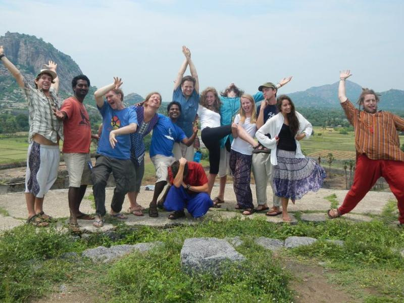 Photographer:Living Routes | This autumn's student group having fun in Tiruvanamalai.