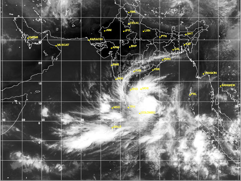 Photographer:www.imd.gov.in/ | Clouds in the South of India