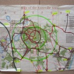 The map of Auroville