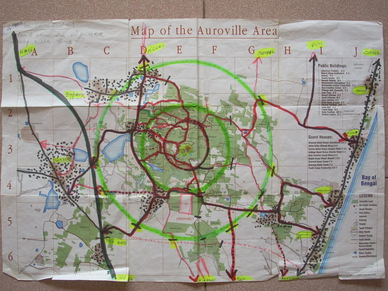Photographer:Andrea | The map of Auroville