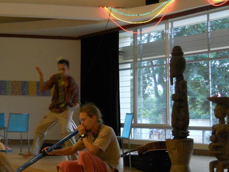 Photographer:Tabitha | Magic Man Victor, Will on didgeridoo