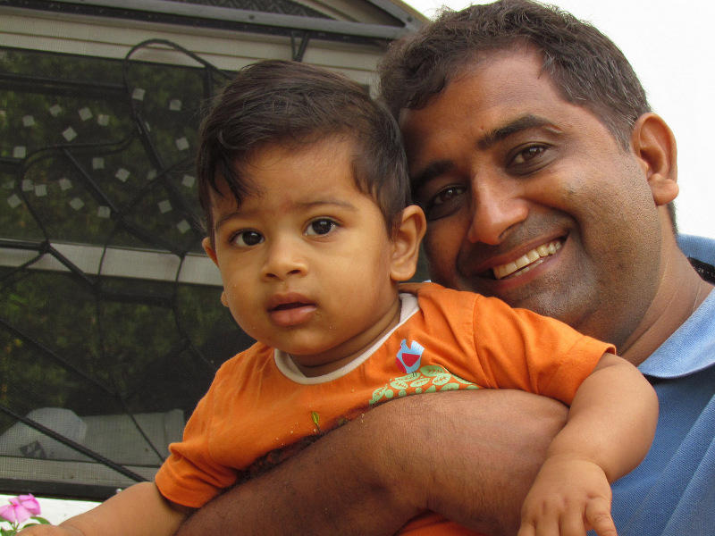 Photographer:Lalit   Lalit with his son Parth Neelabh