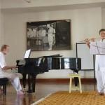 Christa Eschmann flute, Richard Hartz piano