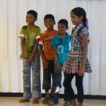 Children attending the program