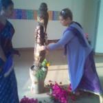 Anandi preparing the