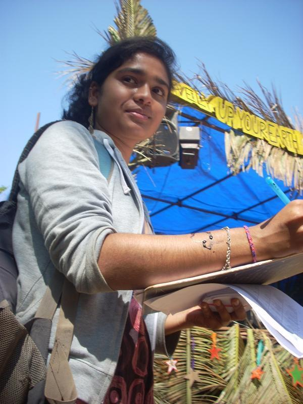 Photographer:Andrea | Nithu, The right hand of the LUYE 2013 Eco Music Festival....