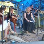 Victoria, Shakti & Vera on stage.