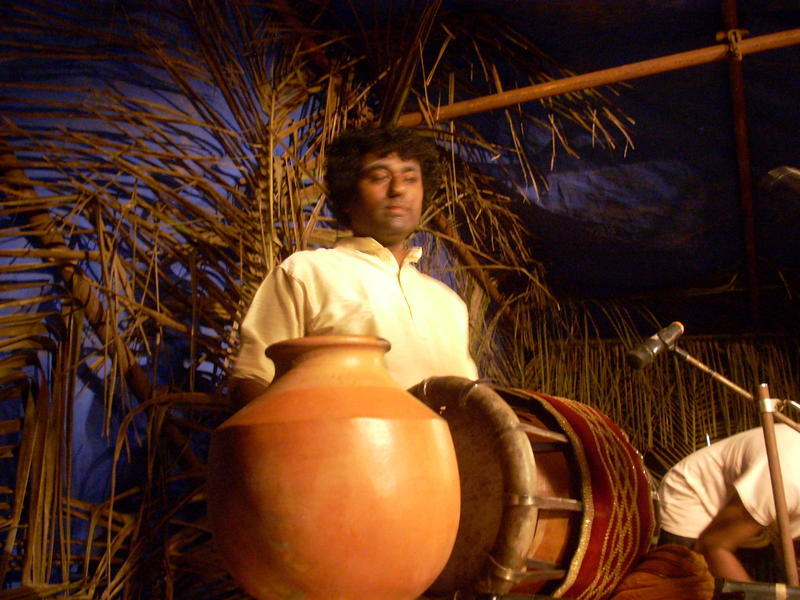 Photographer:Andrea | Classical south India percussion set. Sowri Rajan at Tavil.
