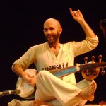 Mattu on the Sarod
