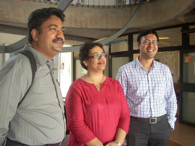 Photographer:Andrea | from left: Dr. Rengaraj Venkatesh, Dr. Manavi D. Sindal and Dr. Prathmesh Mehta.