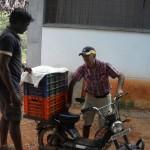 Farmers delivering