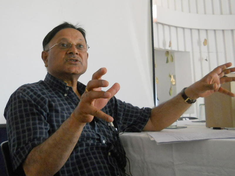 Photographer:Andrea | Dr. Anand Kumar during the presentation.<br />