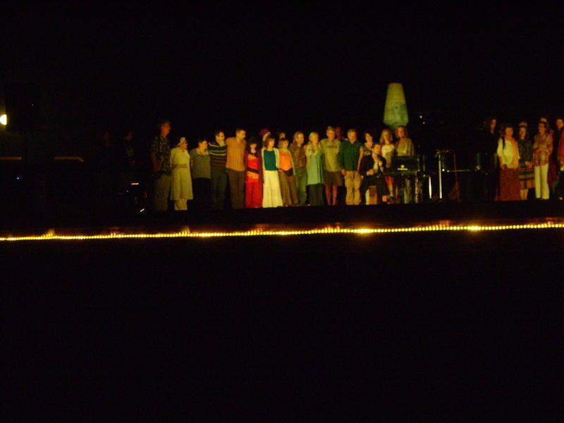 Photographer:Zarin   Matrimandir, Moon, Amphitheater and Marc Vella on Piano
