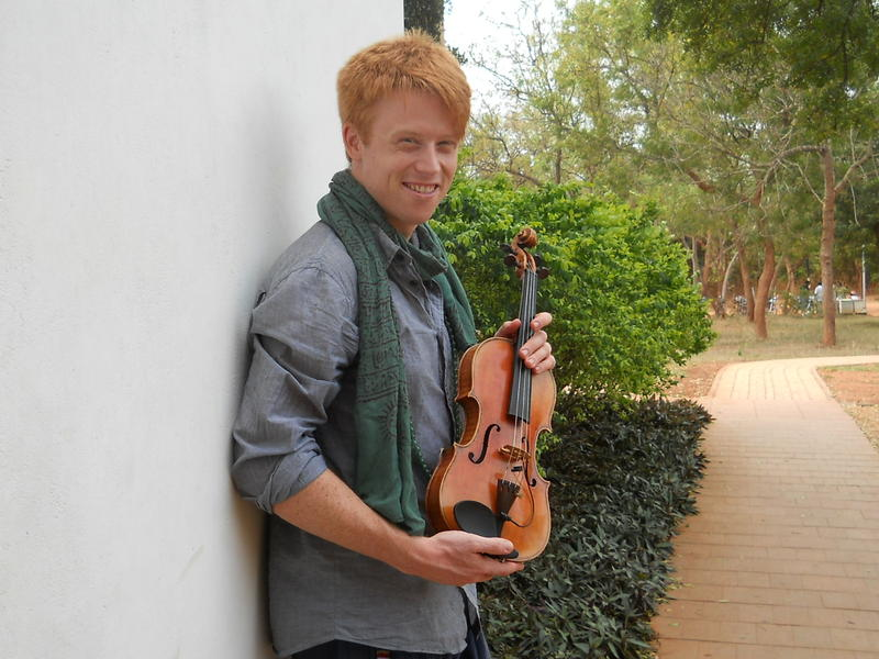 Photographer:Nour | Tyler Carson with his violin