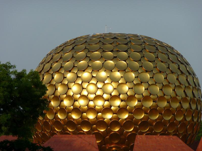 Photographer:web | Matrimandir -renovative work in the process