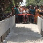 Alex and Susmita during the inauguration of the bridge of Life Education Center.