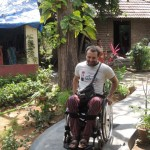 Despite of his disability, Alex keeps his smile and enthusiasm.