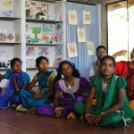 Harini and some girls of Life Education Center.
