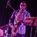Ace Sydney Mnisi on saxophone