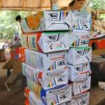 Vous pouvez deposer vos briques a Pour Tous pres de la Solar Kitchen.