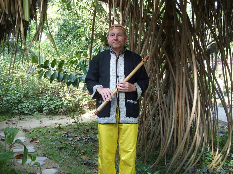 Photographer:Kees Van Boxtel | Kees with the Bansuri