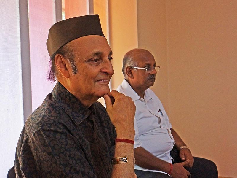 Photographer:Giorgio | Karan Singh chairman of the Auroville Foundation & the secreatary N. Bala Bhaskar