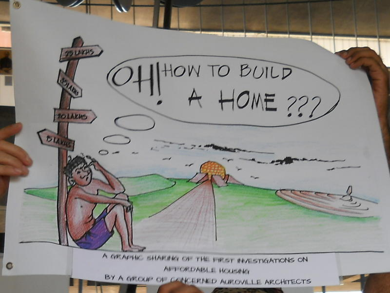 Photographer:Andrea | Cartoon Exhibition on Affordable Housing in Auroville
