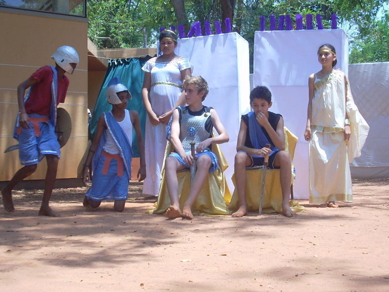 Photographer:Andrea | The sets and costumes were arranged by the kids.