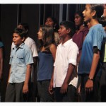 All the choir members are attending the Auroville's schools
