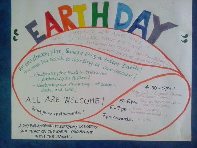 Photographer:web | Earth Day Celebrations - Auroannam Farm on Sunday at 4.30pm