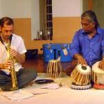 Matt Littlewood on Soprano Saxophone and Manosh Bardhan on the Tabla
