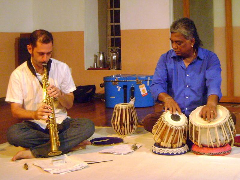 Photographer:Sharan | Matt Littlewood on Soprano Saxophone and Manosh Bardhan on the Tabla
