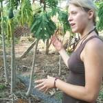 Sara describing her water catchment garden