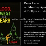 Blood , Sweat and Tears at Ptianga 22. at 7.30pm